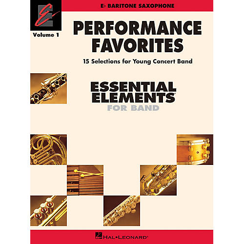 Hal Leonard Performance Favorites, Vol. 1 - Baritone Saxophone Concert Band Level 2 Composed by Various-thumbnail