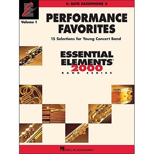 Hal Leonard Performance Favorites Volume 1 Alto Sax 2