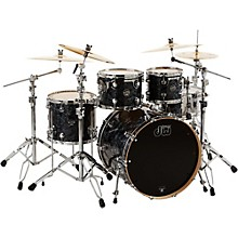 DW Performance Series 4-Piece Shell Pack Black Diamond Finish with Chrome Hardware