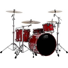 DW Performance Series 4-Piece Shell Pack Candy Apple Lacquer with Chrome Hardware