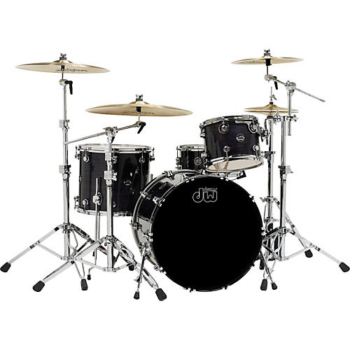 DW Performance Series 4-Piece Shell Pack Ebony Stain Lacquer 18x22