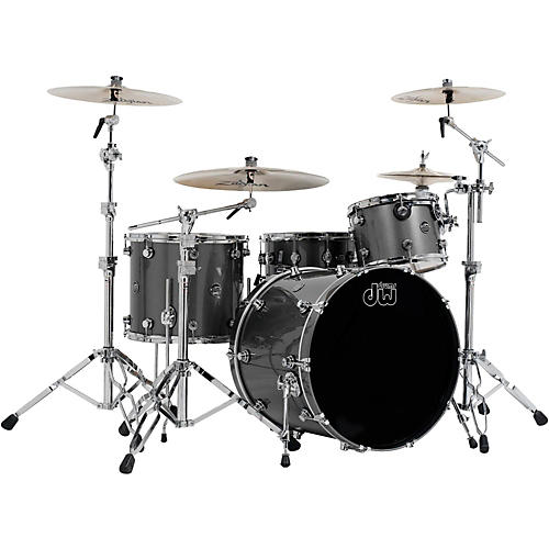 DW Performance Series 4-Piece Shell Pack Gun Metal Metallic Lacquer with Chrome Hardware