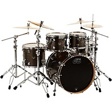 DW Performance Series 4-Piece Shell Pack Pewter Sparkle Finish Chrome Hardware