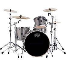 DW Performance Series 4-Piece Shell Pack Titanium Sparkle Finish with Chrome Hardware