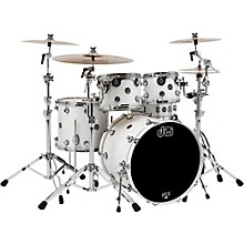 DW Performance Series 5-Piece Shell Pack White Ice Lacquer with Chrome Hardware