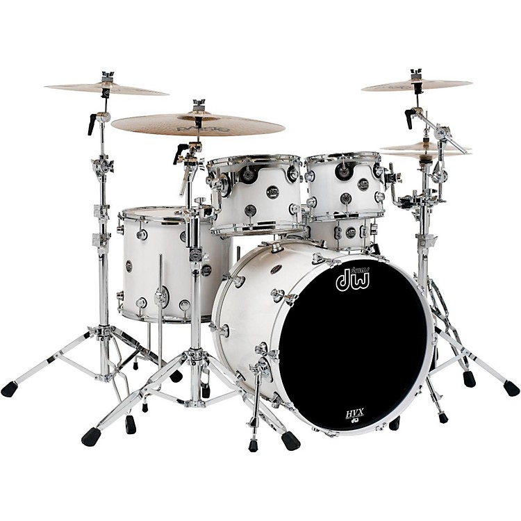 DWPerformance Series 5-Piece Shell PackWhite Ice Lacquer with Chrome Hardware