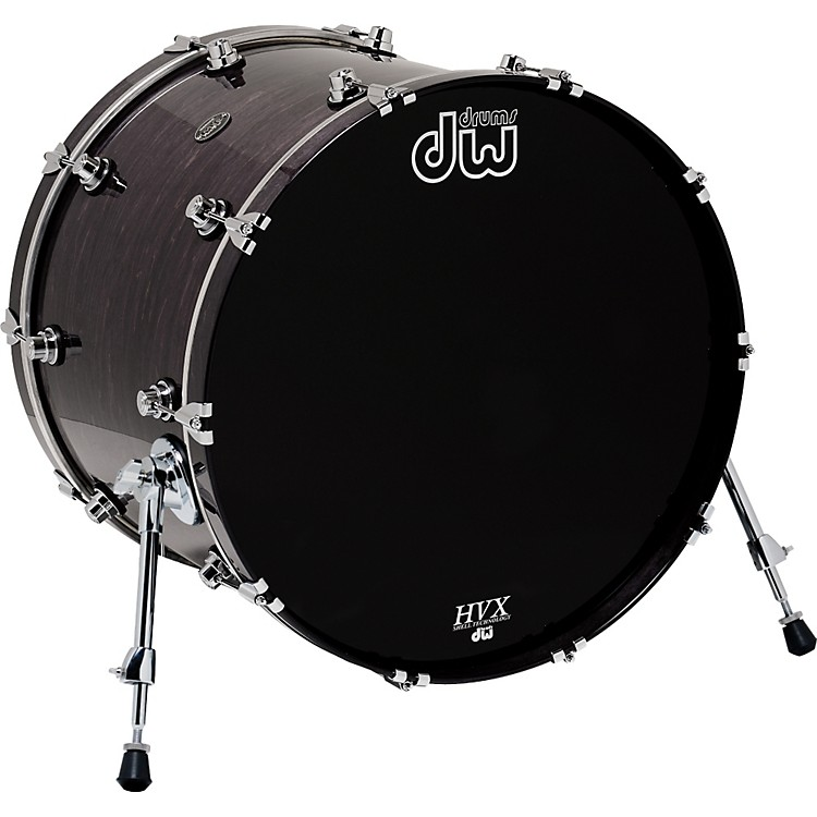 DW Performance Series Bass Drum 18x22 Ebony Stain Lacquer