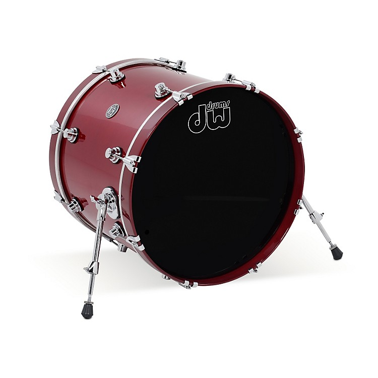 DW Performance Series Bass Drum 18x24 Ebony Stain Lacquer