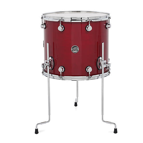 Dw performance series floor tom candy apple lacquer 16 x for 16 floor tom