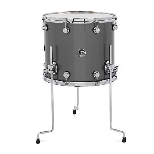 DW Performance Series Floor Tom Gun Metal Metallic Lacquer 16 x 14 in.