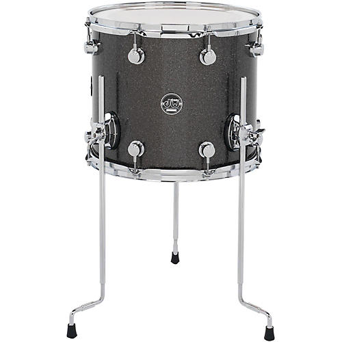 DW Performance Series Floor Tom Pewter Sparkle 14 x 12 in.
