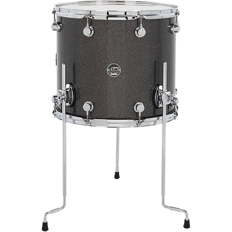 DW Performance Series Floor Tom Pewter Sparkle 14x16