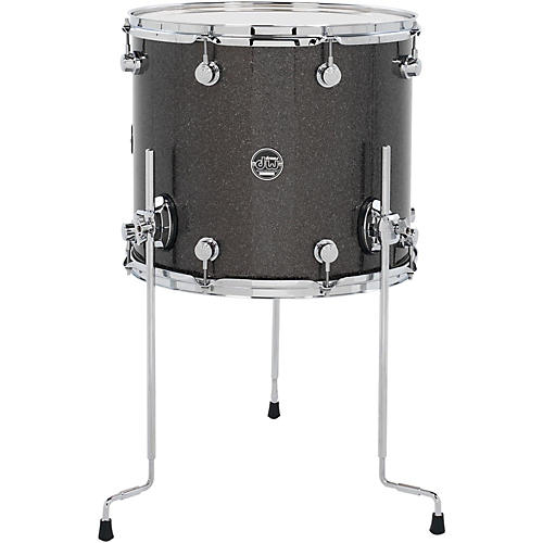 Dw Performance Series Floor Tom Pewter Sparkle 16 X 14 In