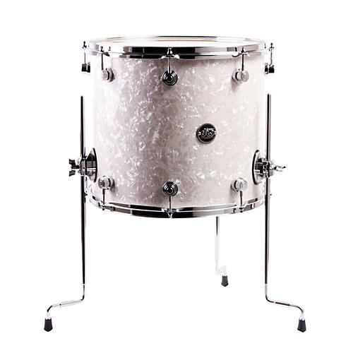 dw performance series floor tom white marine 16 x 14 in