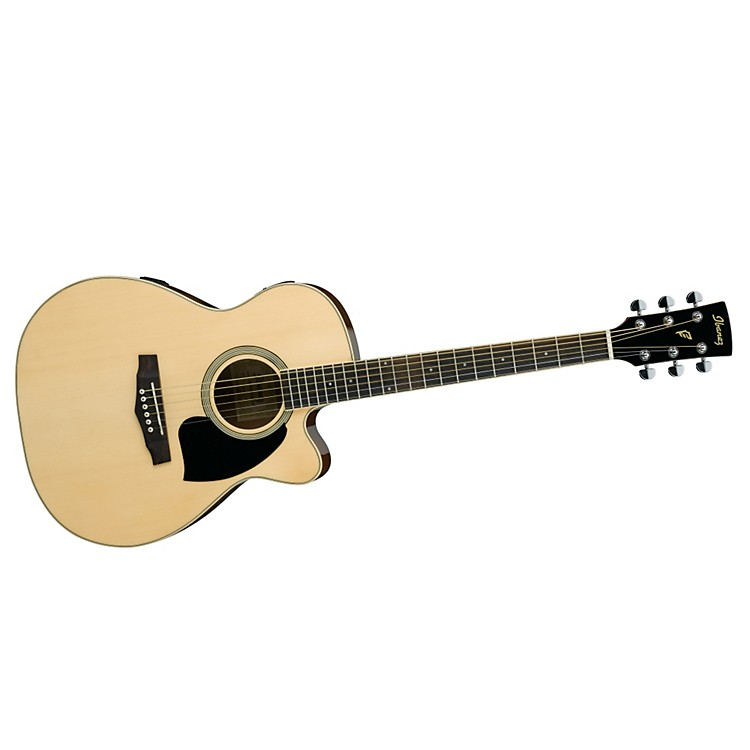 Ibanez Performance Series PC15 Cutaway Grand Concert Acoustic Electric Guitar with Case