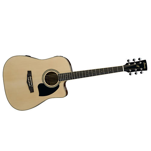 Ibanez Performance Series PF15 Cutaway Dreadnought Acoustic-Electric Guitar with Case-thumbnail