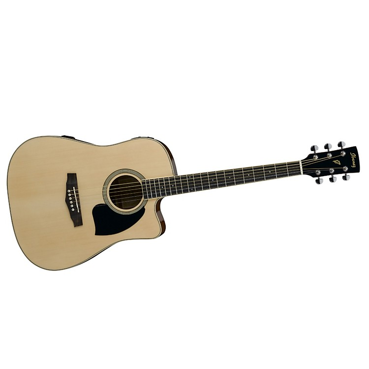 IbanezPerformance Series PF15 Cutaway Dreadnought Acoustic-Electric Guitar with Case