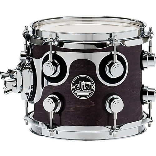 DW Performance Series Tom 7 x 8 Ebony Stain Lacquer