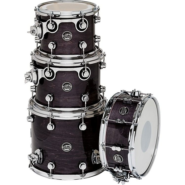 DW Performance Series TomPack 4 Ebony Stain Lacquer