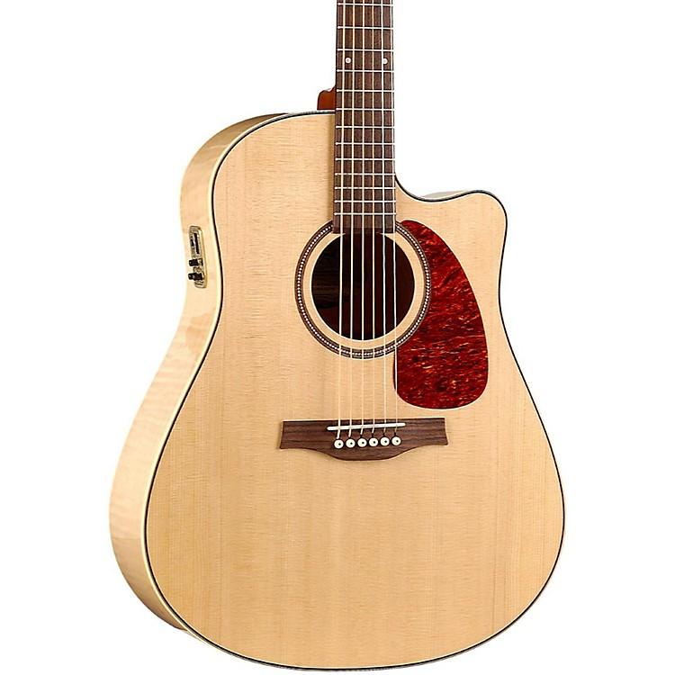 SeagullPerformer Cutaway Flame Maple High Gloss QI Acoustic-Electric GuitarNatural