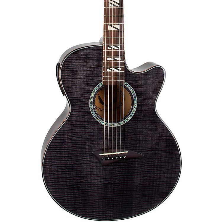 Dean Performer Flame Maple Acoustic-Electric Guitar with Aphex Trans Black