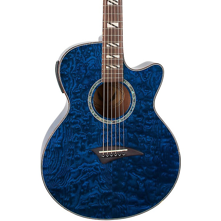 Dean Performer Quilt Ash Acoustic-Electric Guitar with Aphex Trans Blue