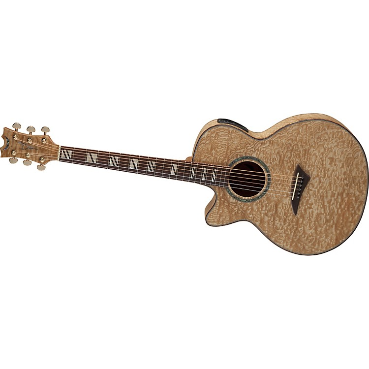 DeanPerformer Quilt Ash Left-Handed Acoustic-Electric Guitar w/Aphex