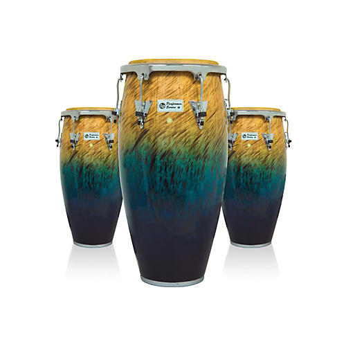 LP Performer Series 3-Piece Conga Set with Chrome Hardware Blue Fade