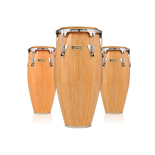 LP Performer Series 3-Piece Conga Set with Chrome Hardware Natural
