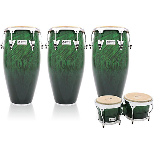 LP Performer Series 3-Piece Conga and Bongo Set with Chrome Hardware-thumbnail