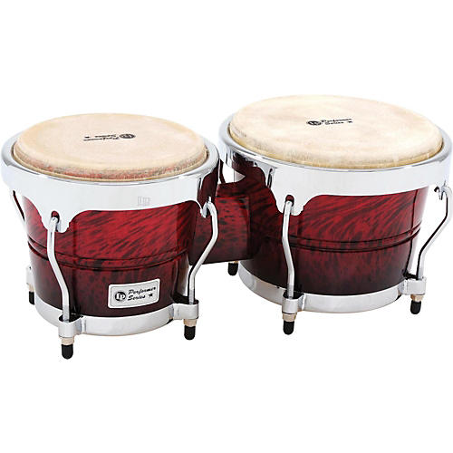 LP Performer Series Bongos with Chrome Hardware Red Fade