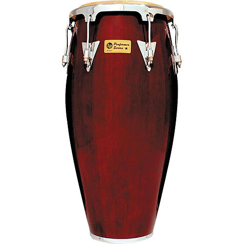 LP Performer Series Conga with Chrome Hardware 11 in. Quinto Dark Wood