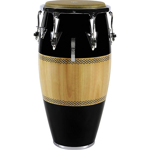LP Performer Series Conga with Chrome Hardware 11.75 in. Black/Natural