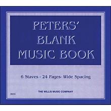 Willis Music Peters' Blank Music Book 1