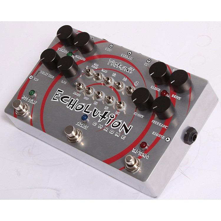 Pigtronix Phi Echolution Chrome Delay Guitar Effects Pedal