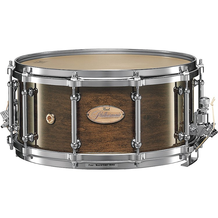 Pearl Philharmonic Snare Drum Concert Drums Walnut 14 X 6.5 Inch