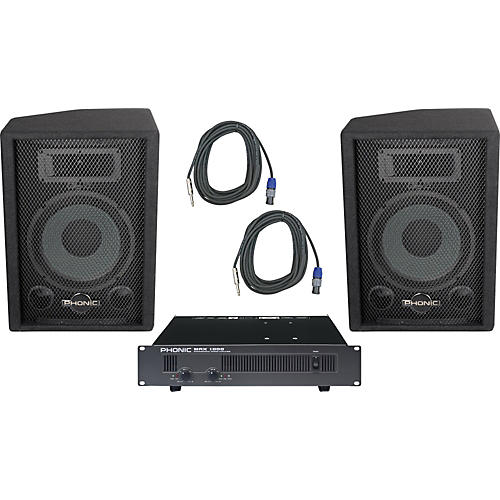Phonic Phonic S710 / MAX 1000 Speaker and Amp Package