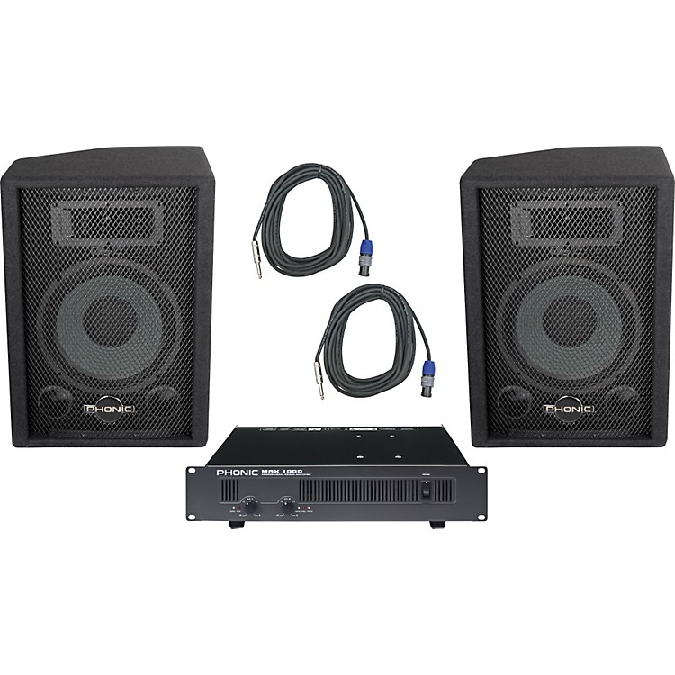 PhonicPhonic S710 / MAX 1000 Speaker and Amp Package
