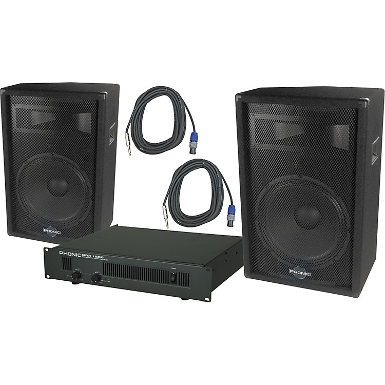 PhonicPhonic S715 / MAX 1600 Speaker and Amp Package