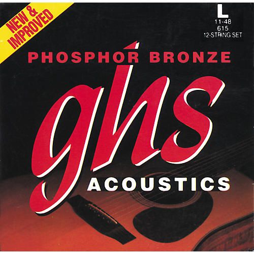 GHS Phosphor Bronze 12-String Light Acoustic Guitar Strings