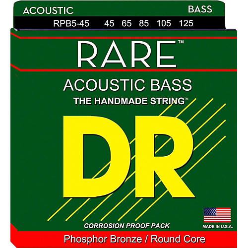 DR Strings Phosphor Bronze Acoustic 5-String Bass Strings
