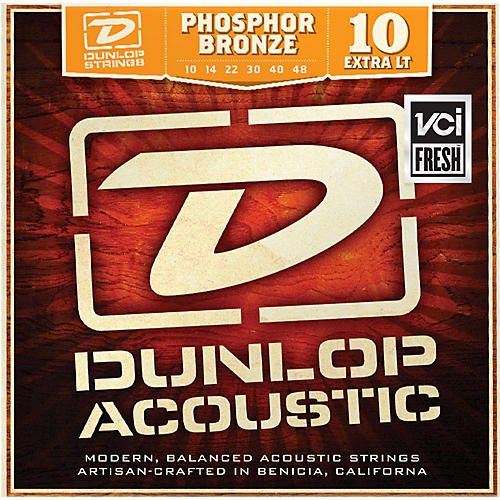Dunlop Phosphor Bronze Extra Light Acoustic Guitar Strings