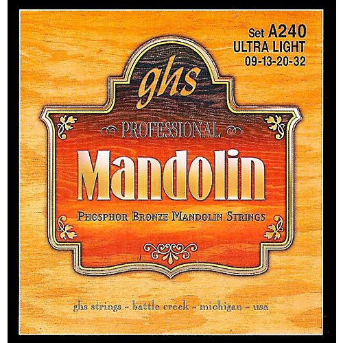 GHS Phosphor Bronze Mandolin Strings Ultra Light