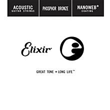 Elixir Phosphor Bronze Single Acoustic Guitar String with NANOWEB Coating (.052)