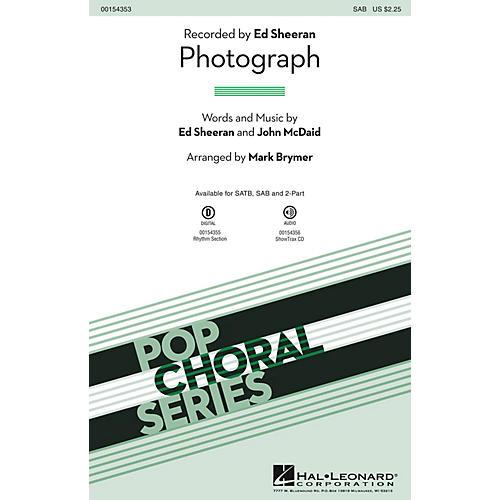 Hal Leonard Photograph SAB by Ed Sheeran arranged by Mark Brymer-thumbnail