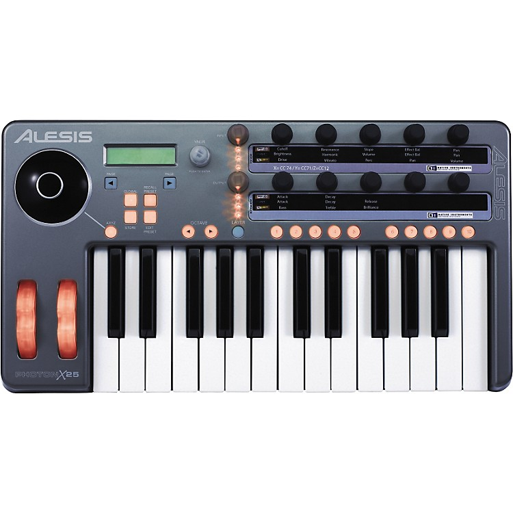 AlesisPhoton X25 USB/MIDI Keyboard Controller with Audio