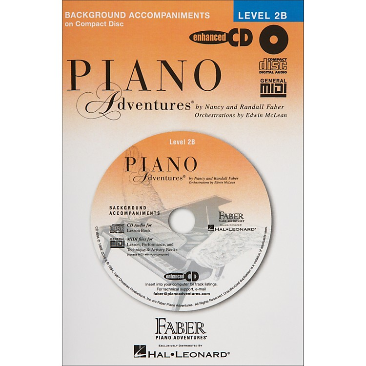 Faber Music Piano Adventures Lesson CD for Level 2B - Faber Piano