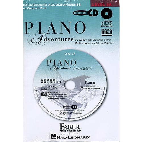 Faber Piano Adventures Piano Adventures Lesson CD for Level 3A with Practice And Performance Tempos - Faber Piano