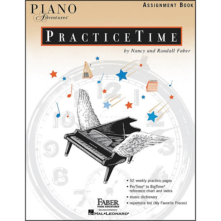 Faber Music Piano Adventures Practice time assignment Book - Faber Piano