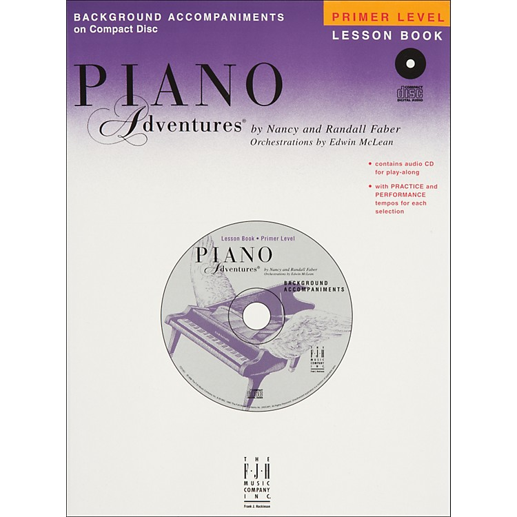 Faber Music Piano Adventures Primer Level Lesson CD with Practice And Performance Tempos - Faber Piano